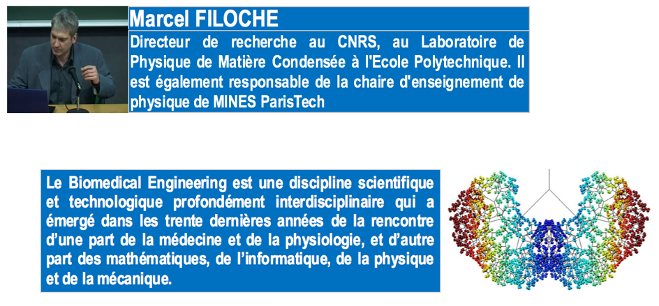 14 avril 2016 15 avril 2016 Cours de BIOMEDICAL ENGINEERING Cycle Ingenieur 1A MARCEL FILOCHE EMINES